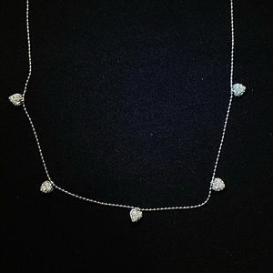 NWT Nadri crystal heart necklace